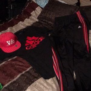 Adidas outfit w/ VA hat